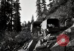 Image of U.S. Army motor transport convoy crossing mountains California United States USA, 1919, second 4 stock footage video 65675025559