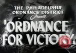 Image of Ordinance for victory Philadelphia Pennsylvania USA, 1942, second 3 stock footage video 65675025610