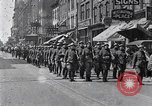 Image of French troops march in Liberty Loan Rally Detroit Michigan USA, 1918, second 2 stock footage video 65675025643