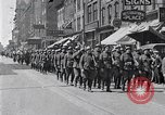 Image of French troops march in Liberty Loan Rally Detroit Michigan USA, 1918, second 3 stock footage video 65675025643