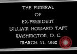Image of Funeral procession for President William H Taft Washington DC USA, 1930, second 5 stock footage video 65675025670