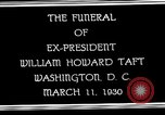 Image of Funeral procession for President William H Taft Washington DC USA, 1930, second 10 stock footage video 65675025670