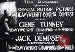 Image of Tunney-Dempsey fight Chicago Illinois USA, 1927, second 3 stock footage video 65675025700