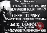 Image of Tunney-Dempsey fight Chicago Illinois USA, 1927, second 4 stock footage video 65675025700