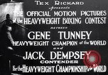 Image of Tunney-Dempsey fight Chicago Illinois USA, 1927, second 5 stock footage video 65675025700