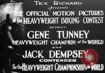 Image of Tunney-Dempsey fight Chicago Illinois USA, 1927, second 6 stock footage video 65675025700