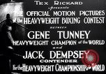Image of Tunney-Dempsey fight Chicago Illinois USA, 1927, second 8 stock footage video 65675025700