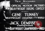 Image of Tunney-Dempsey fight Chicago Illinois USA, 1927, second 9 stock footage video 65675025700