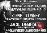 Image of Tunney-Dempsey fight Chicago Illinois USA, 1927, second 10 stock footage video 65675025700