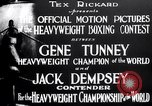 Image of Tunney-Dempsey fight Chicago Illinois USA, 1927, second 11 stock footage video 65675025700
