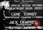 Image of Tunney-Dempsey fight Chicago Illinois USA, 1927, second 12 stock footage video 65675025700