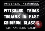 Image of USC versus Pittsburgh football Los Angeles California USA, 1935, second 2 stock footage video 65675025718