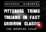 Image of USC versus Pittsburgh football Los Angeles California USA, 1935, second 4 stock footage video 65675025718