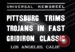 Image of USC versus Pittsburgh football Los Angeles California USA, 1935, second 9 stock footage video 65675025718