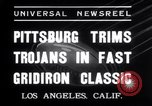 Image of USC versus Pittsburgh football Los Angeles California USA, 1935, second 10 stock footage video 65675025718
