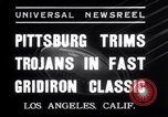 Image of USC versus Pittsburgh football Los Angeles California USA, 1935, second 11 stock footage video 65675025718