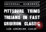 Image of USC versus Pittsburgh football Los Angeles California USA, 1935, second 12 stock footage video 65675025718