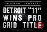 Image of Football game between Lions and Giants in mid 1930s Detroit Michigan USA, 1935, second 12 stock footage video 65675025719