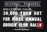 Image of Grouch Club Convention California United States USA, 1939, second 5 stock footage video 65675025739
