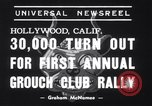 Image of Grouch Club Convention California United States USA, 1939, second 8 stock footage video 65675025739