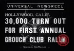 Image of Grouch Club Convention California United States USA, 1939, second 10 stock footage video 65675025739