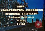 Image of Construction of Liberty ships  in World War 2 California United States USA, 1942, second 2 stock footage video 65675025784
