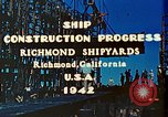 Image of Construction of Liberty ships  in World War 2 California United States USA, 1942, second 3 stock footage video 65675025784