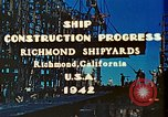 Image of Construction of Liberty ships  in World War 2 California United States USA, 1942, second 4 stock footage video 65675025784