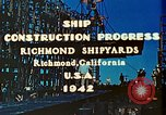 Image of Construction of Liberty ships  in World War 2 California United States USA, 1942, second 5 stock footage video 65675025784