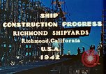 Image of Construction of Liberty ships  in World War 2 California United States USA, 1942, second 6 stock footage video 65675025784