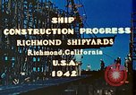 Image of Construction of Liberty ships  in World War 2 California United States USA, 1942, second 7 stock footage video 65675025784