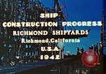 Image of Construction of Liberty ships  in World War 2 California United States USA, 1942, second 9 stock footage video 65675025784