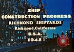 Image of Construction of Liberty ships  in World War 2 California United States USA, 1942, second 10 stock footage video 65675025784
