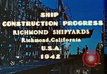 Image of Construction of Liberty ships  in World War 2 California United States USA, 1942, second 11 stock footage video 65675025784