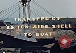 Image of A moving crane transferring a 28 ton steel side shell for Liberty ship California United States USA, 1942, second 3 stock footage video 65675025790