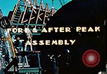 Image of Construction of fore and after peaks of Liberty ship in World War 2 California United States USA, 1942, second 5 stock footage video 65675025795