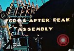 Image of Construction of fore and after peaks of Liberty ship in World War 2 California United States USA, 1942, second 8 stock footage video 65675025795