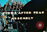 Image of Construction of fore and after peaks of Liberty ship in World War 2 California United States USA, 1942, second 9 stock footage video 65675025795