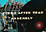 Image of Construction of fore and after peaks of Liberty ship in World War 2 California United States USA, 1942, second 10 stock footage video 65675025795