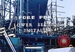 Image of Lower section of fore peak put in place on Liberty ship  California United States USA, 1942, second 4 stock footage video 65675025796