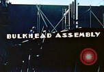 Image of Assembly of bulkhead on Liberty ship  California United States USA, 1942, second 6 stock footage video 65675025798