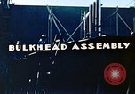 Image of Assembly of bulkhead on Liberty ship  California United States USA, 1942, second 9 stock footage video 65675025798