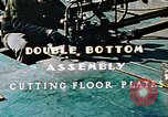 Image of Fabrication and installation of floor plates on double bottom of ship California United States USA, 1942, second 10 stock footage video 65675025799