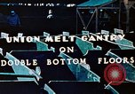 Image of Workers union melt Gantry on double bottom floors of Liberty ship California United States USA, 1942, second 5 stock footage video 65675025801