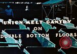 Image of Workers union melt Gantry on double bottom floors of Liberty ship California United States USA, 1942, second 6 stock footage video 65675025801