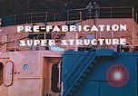 Image of Shipyard workers prefabricating Liberty Ship superstructure California United States USA, 1942, second 9 stock footage video 65675025803