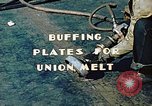 Image of Liberty ship deck plates are prepared for union melt at shipyard California United States USA, 1942, second 7 stock footage video 65675025805