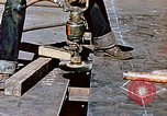 Image of Liberty ship deck plates are prepared for union melt at shipyard California United States USA, 1942, second 11 stock footage video 65675025805