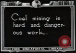 Image of process to get coal chunks United States USA, 1922, second 6 stock footage video 65675025808