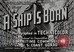 Image of Victory ship launch California United States USA, 1941, second 3 stock footage video 65675025829